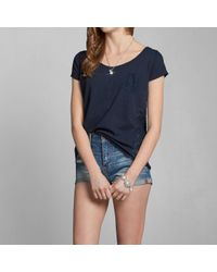 Abercrombie & Fitch - Blue Taylor Lace Back Top - Lyst