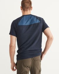 Abercrombie & Fitch | Blue Active Crew Tee for Men | Lyst