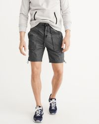 Abercrombie & Fitch - Gray Sport Nylon Shorts for Men - Lyst