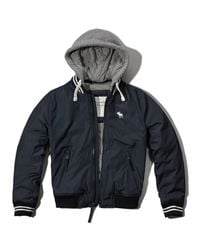 Abercrombie & Fitch - Blue Classic Varsity Jacket for Men - Lyst