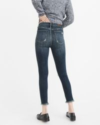 Abercrombie & Fitch - Blue High-rise Ankle Jeans Exchange Color / Size - Lyst