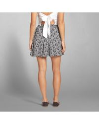 Abercrombie & Fitch - Black Zip Front Skater Skirt - Lyst