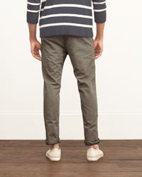 Abercrombie & Fitch - Brown A&f Taper Chinos for Men - Lyst