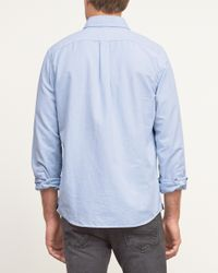 Abercrombie & Fitch - Blue Muscle Fit Iconic Oxford Shirt for Men - Lyst