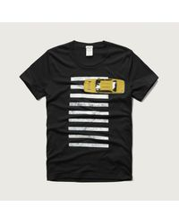 Abercrombie & Fitch - Black Road Trip Graphic Tee for Men - Lyst