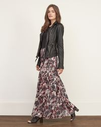 Abercrombie & Fitch - Multicolor Pleated Chiffon Maxi Skirt - Lyst