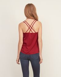 Abercrombie & Fitch - Black Strappy Easy Cami - Lyst