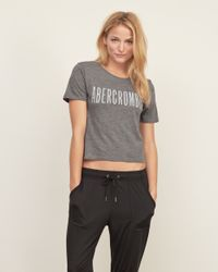 Abercrombie & Fitch - Gray Logo Boy Tee - Lyst