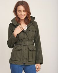 Abercrombie & Fitch - Green Lightweight Military Parka - Lyst