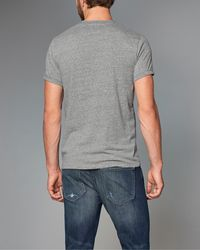Abercrombie & Fitch - Gray Logo Graphic Tee for Men - Lyst