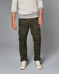 Abercrombie & Fitch - Black Cargo Pants for Men - Lyst
