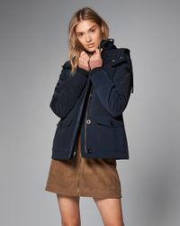 Abercrombie & Fitch - Blue Hard Shell Performance Jacket - Lyst