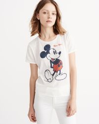 Abercrombie & Fitch - White Mickey Tee - Lyst
