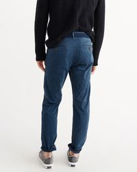 Abercrombie & Fitch - Blue Slim Straight Chino Pants for Men - Lyst