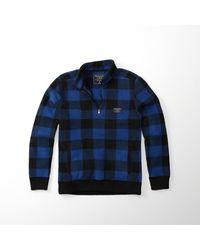 Abercrombie & Fitch - Blue Trail Fleece Half-zip Pullover for Men - Lyst