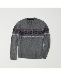 Abercrombie & Fitch - Gray Fair Isle Sweater Exchange Color / Size for Men - Lyst