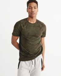 Abercrombie & Fitch - Green Active Crew Tee for Men - Lyst