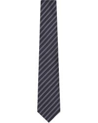 Armani | Blue Diagonal Double Stripe Silk Tie for Men | Lyst