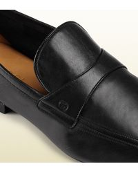 Gucci - Black Unlined Leather Loafer for Men - Lyst