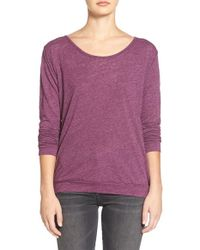 Velvet By Graham & Spencer | Purple Heather Knit Twist Back Top | Lyst