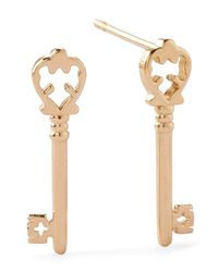 ALEX AND ANI | Metallic Precious Metals Symbolic Skeleton Key Earrings | Lyst