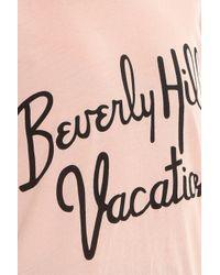 Wildfox - Pink Beverly Hills T-shirt - Lyst