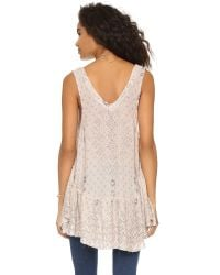 Free People - Natural Say It With A Layer Tunic - Lyst