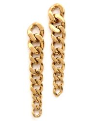 Michael Kors - Metallic Graduated Curb Chain Post Earrings Gold - Lyst