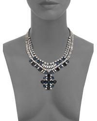 DANNIJO | Metallic Mikhail Crystal Medallion Bib Necklace | Lyst