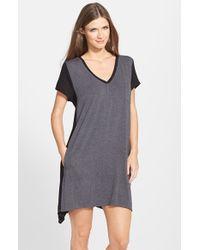 DKNY - Gray 'urban Essentials' Stretch Modal Sleep Shirt - Lyst