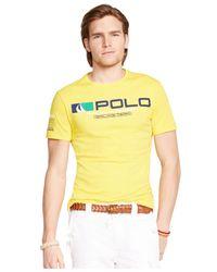 Polo Ralph Lauren | Yellow Sailing Team Graphic T-shirt for Men | Lyst
