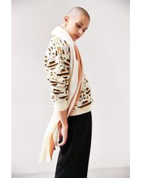 BDG - Brown Vertical Stripe Oversized Blanket Scarf - Lyst