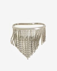 Fallon - Metallic Liquid Fringe Palm Cuff Silver - Lyst