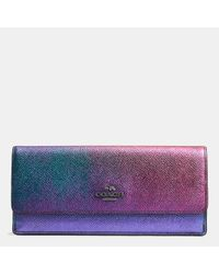 COACH | Multicolor Soft Wallet In Hologram Leather | Lyst