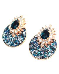 Shourouk | Blue Luna Comet Earrings in Montana | Lyst