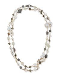Sheryl Lowe | Multicolor Mixed Stone And Diamond Beaded Necklace | Lyst