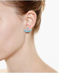 Yvonne Léon | Blue 18K Gold And Turquoise Pearl Stud Earring | Lyst