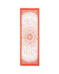 Tory Burch | White Printed Heart Scarf | Lyst