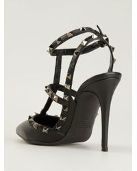 Valentino - Black Studded Pumps - Lyst