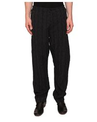 Uma Wang - Black Vittorio Linen And Viscose Pants for Men - Lyst