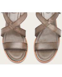 Frye | Gray Brielle Criss Cross Sandal | Lyst