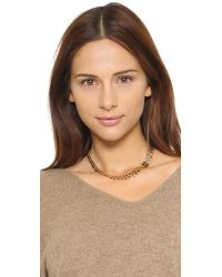 Marc By Marc Jacobs - Metallic Lost & Found Zipper Necklace - Oro - Lyst