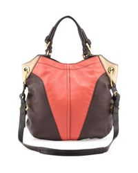 orYANY | Pink Victoria Colorblock Shoulder Bag Claymulti | Lyst