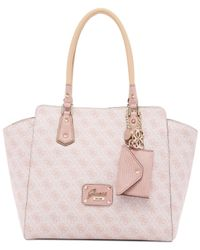 Guess - Pink Park Lane Logo Avery Satchel - Lyst