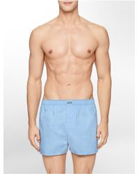 Calvin Klein - Blue Underwear 3 Pack Woven Classic Fit Boxers for Men - Lyst