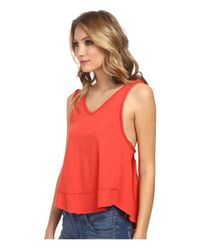 Free People - Red Cupcake Jersey Toying Around Tank Top - Lyst