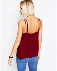 ASOS | Purple Woven Cami Top With Double Straps | Lyst