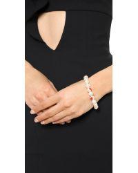 Venessa Arizaga | Te Amo Imitation Pearl Bracelet - Red | Lyst