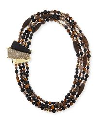 Alexis Bittar | Multicolor Tigers Eye Multi-strand Tressard Necklace | Lyst