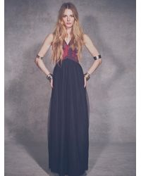 Shakuhachi | Red Womens Black Rose Tulle Maxi | Lyst